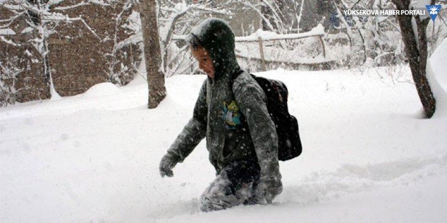 Bahçesaray'da eğitime kar engeli