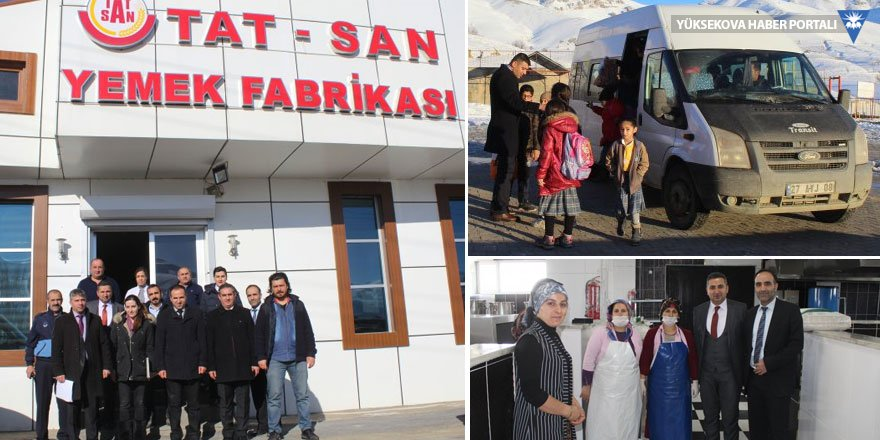 Yüksekova'da yemek ve taşıma hizmeti denetimi