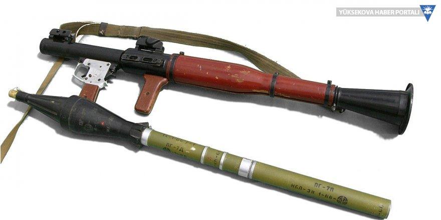 Yüksekova'da bulunan roket başlığı imha edildi