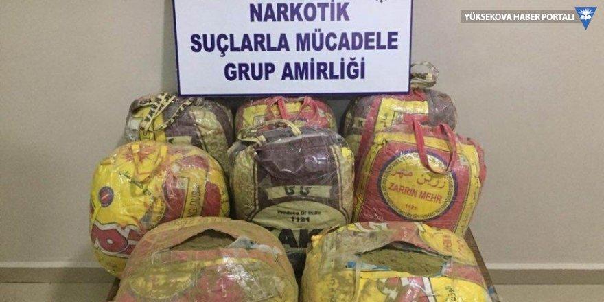 Yüksekova'da 95 kilo esrar ele geçirildi
