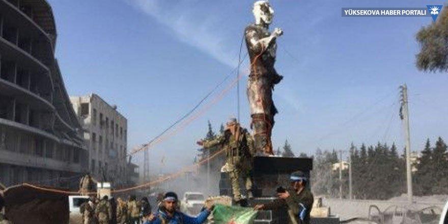 Afrin'deki Demirci Kawa heykeli yıkıldı