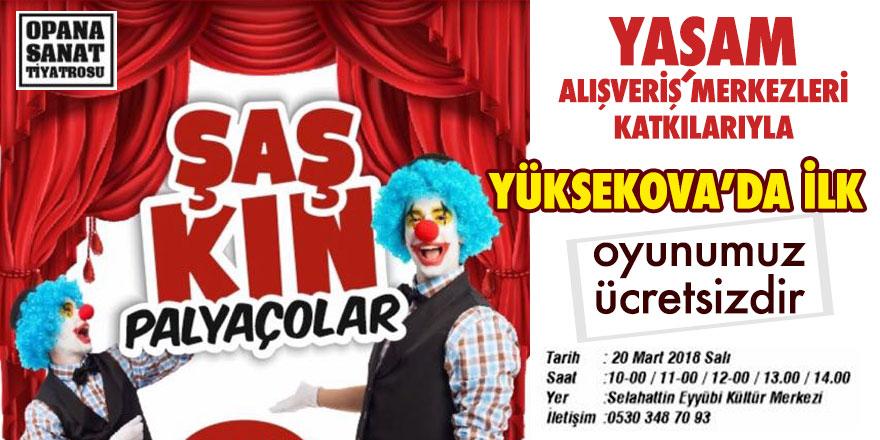 Yüksekova'da ücretsiz tiyatro gösterisi