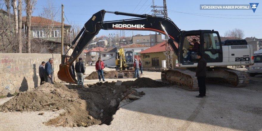 Yüksekova'da altyapı çalışması yeniden başladı