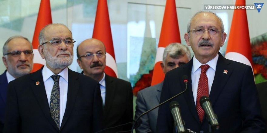 CHP'den Saadet Partisi'ne 6 kontenjan