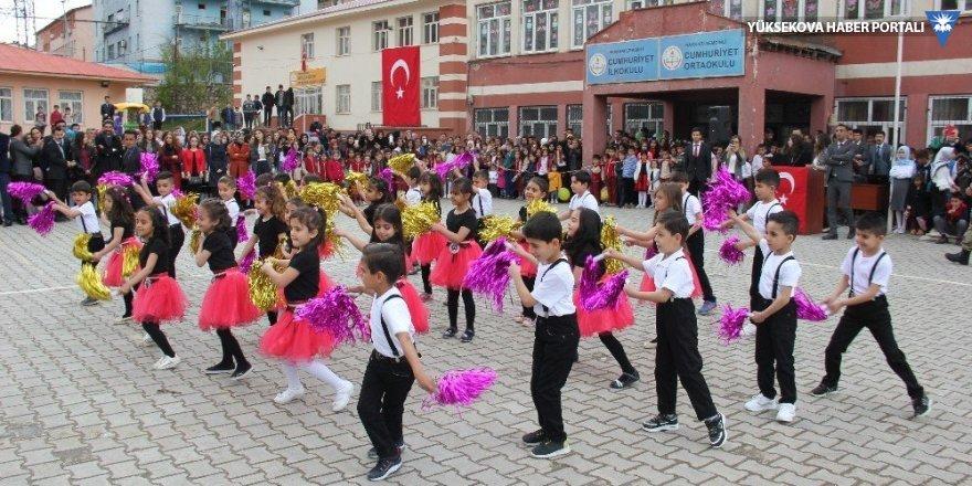 Şemdinli'de 23 Nisan programı