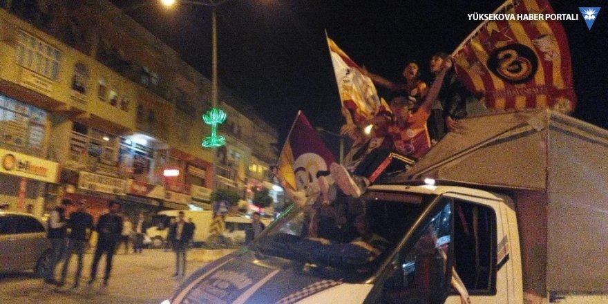 Şemdinli'de Galatasaray için sevinç gösterisi
