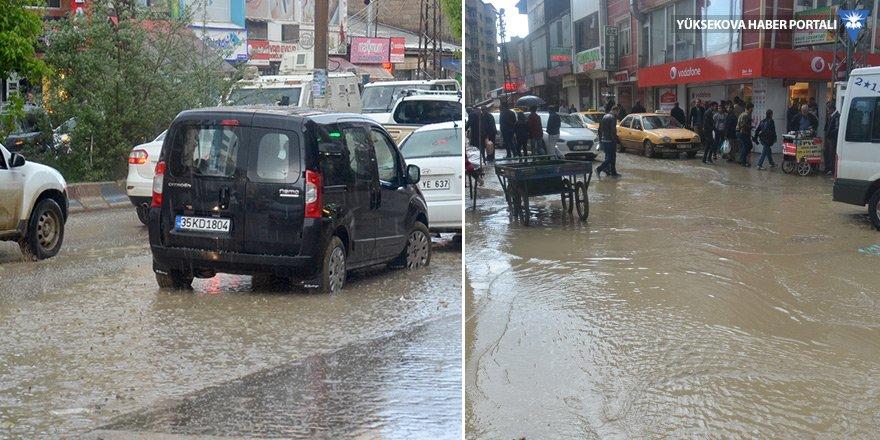 Yüksekova'daki yağış hayatı olumsuz etkiledi