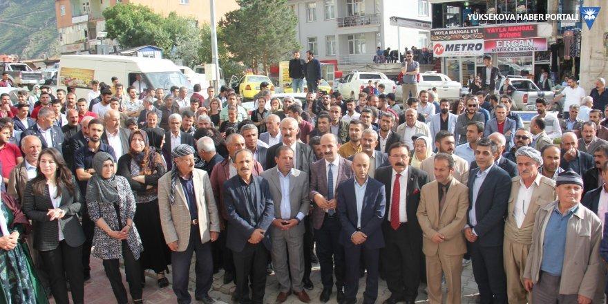 HDP Şemdinli seçim bürosu açıldı