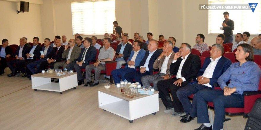 Hakkari'de 'İmar Barışı' konulu toplantı