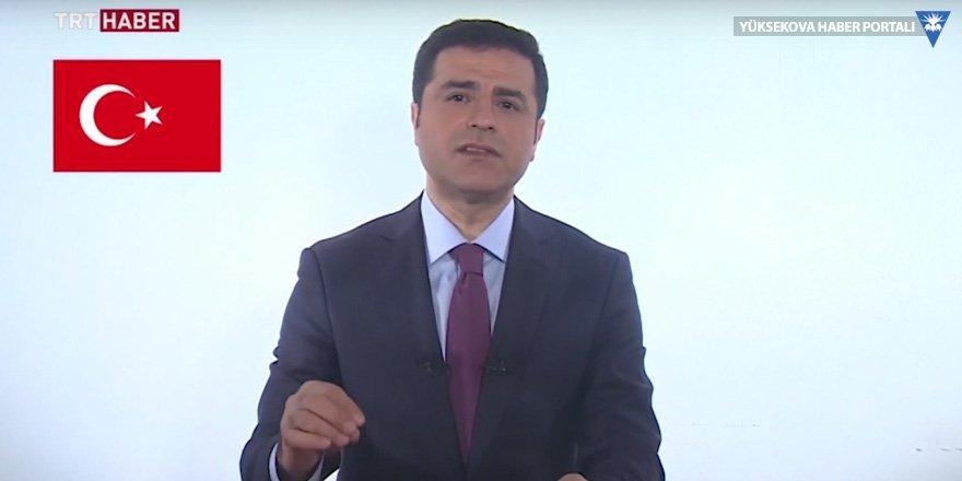 Demirtaş TRT Haber'de son propaganda konuşmasını yaptı