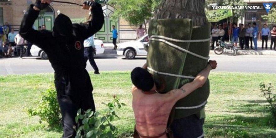 Genç İranlı kamuya açık alanda kırbaçlandı