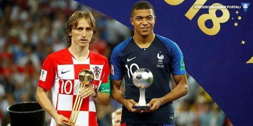 Modric ve Mbappe Dünya Kupası'nın en iyileri