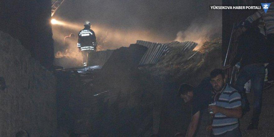 Yangın: 25 hayvan telef oldu