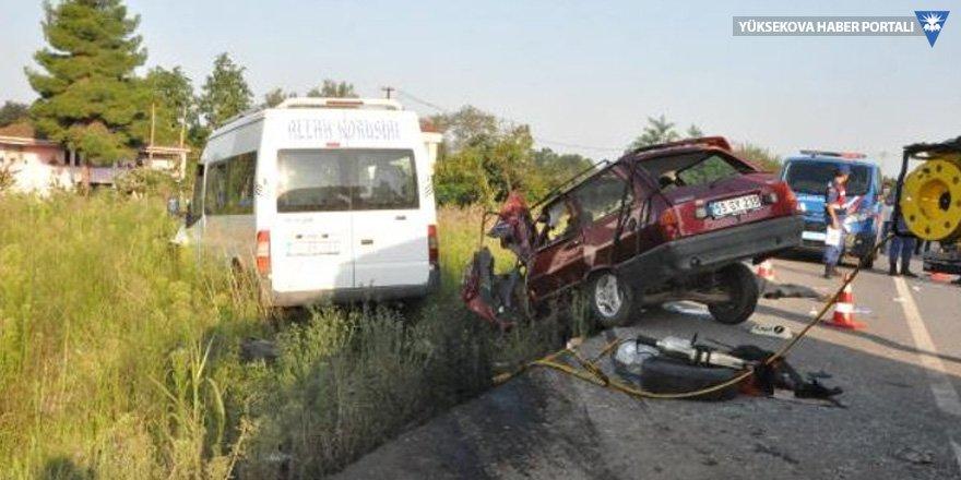 Samsun'da kaza: 2 ölü, 1 yaralı