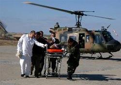 Helikopterle Vana Kaldırıldı