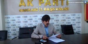 AK Parti Hakkari İl Başkanı Fırat istifa etti