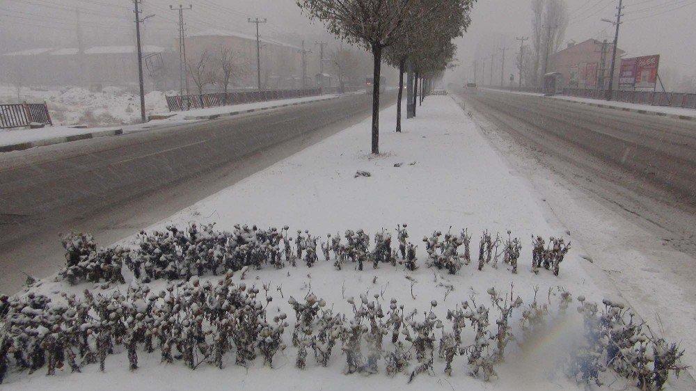 Bitlis'te kar yağışı