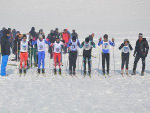 Yüksekova'da kayak yarışması