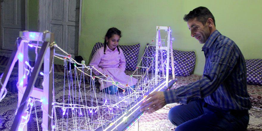 Yüksekovalı baba kızına boğaz köprüsü yaptı