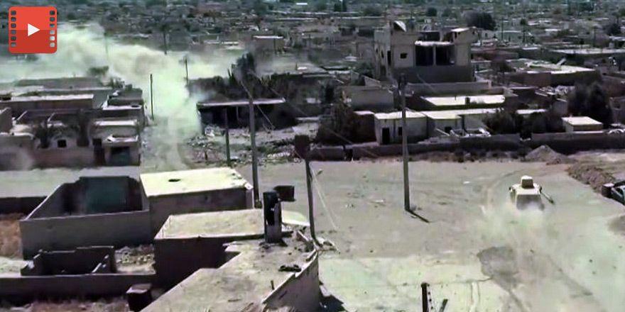 Bombardıman sonrası İHA'dan Rakka görüntüleri