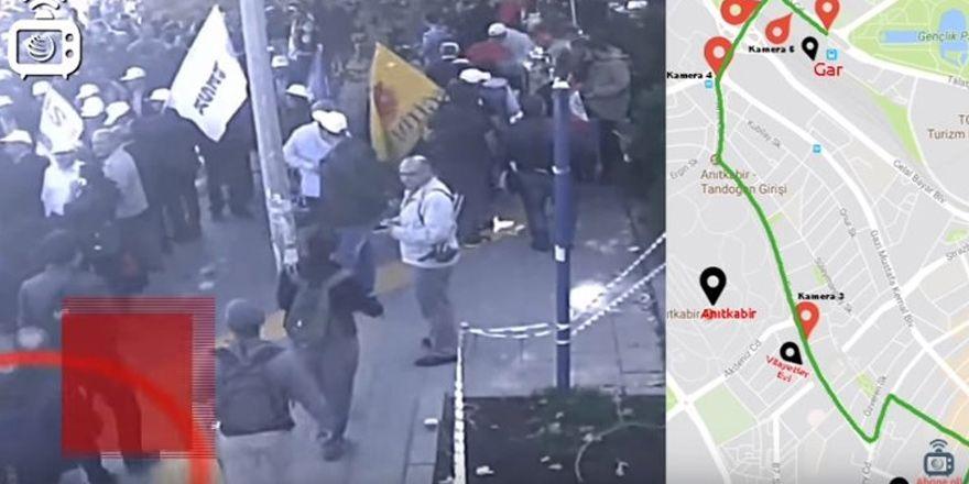 Ankara Katliamı'nda canlı bombaların alana geliş görüntüleri ortaya çıktı